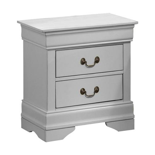 Louis Philippe Nightstand, White