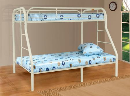 Bedroom Sade Twin/Full Bunk Bed, White