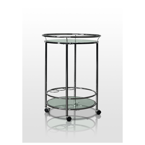 Round Wine Server Bar Cart