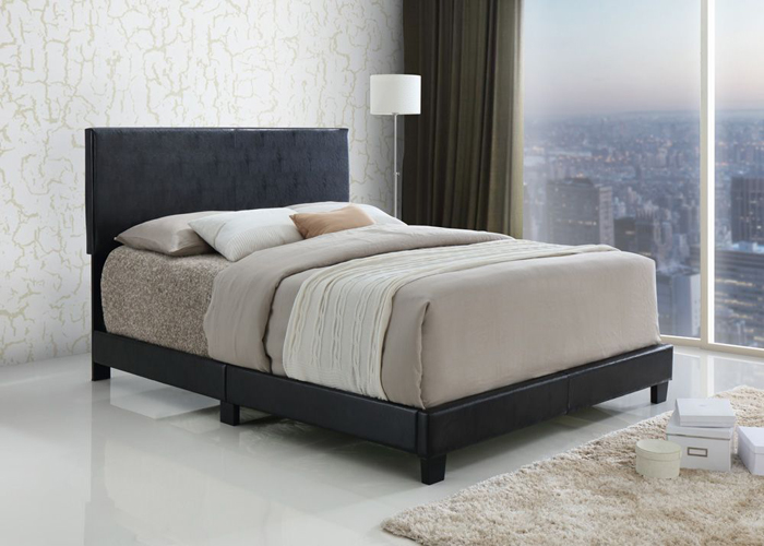 Jessica Espresso Full Bed in Faux Leather