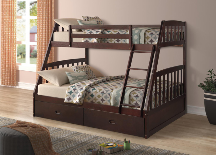 Bedroom Miller Twin Over Full Bunkbed, Espresso