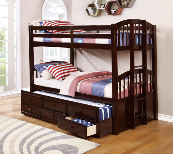 Bedroom Menlo Twin over Full Bunkbed, Espresso