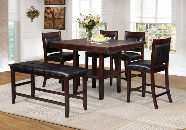 Allison Counterheight Pub Table with Lazy Susan