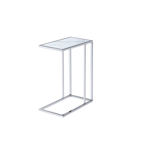 Amelia Chair Side End Table, White