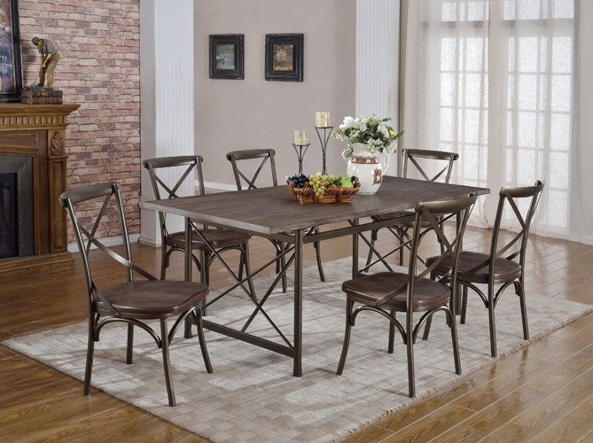 Anderson Rustic Brown Dining Table