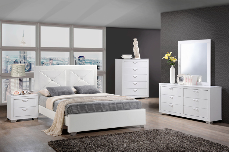Brahma Dresser in White Finish