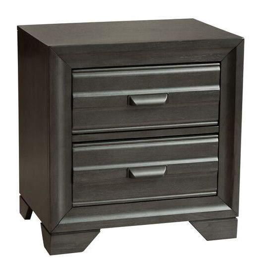 Eddison Nightstand in Gray Finish