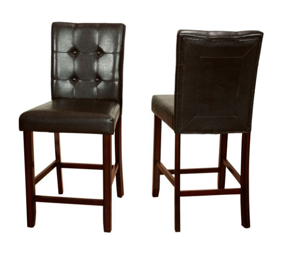 Eliza Faux Leather Counterheight Parsons Dining Chair