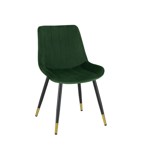 Enzo Velvet Accent Chair, Green