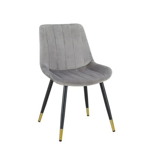 Enzo Velvet Accent Chair, Gray