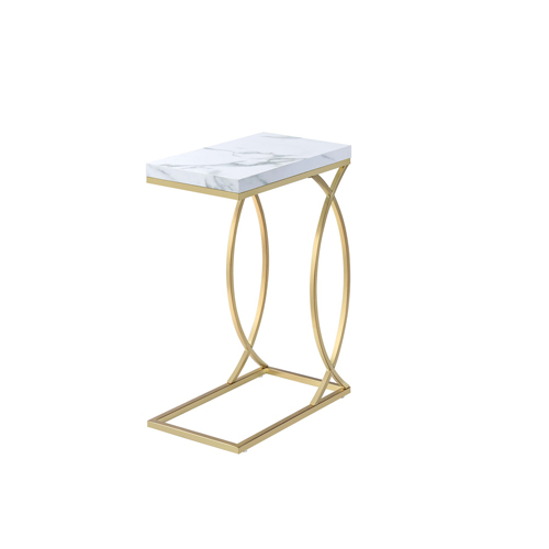 Fanetta Chair Side End Table, White