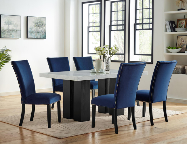 Dining RoomIris Side Chair, Blue