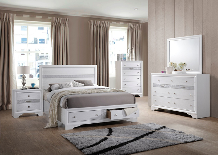 Bedroom Logan Chest, White