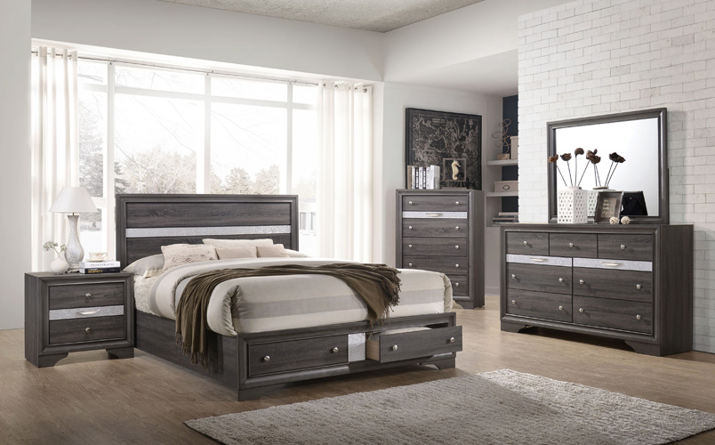 Bedroom Logan Chest, Gray