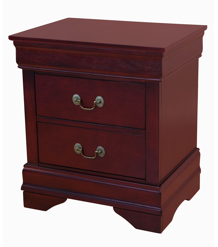 Louis Philippe Nightstand in Cherry Finish