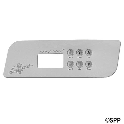Overlay, Spaside, LA Spa (Gecko) TSC44, 6-Button, 2-Pump, Blower, For PL49530
