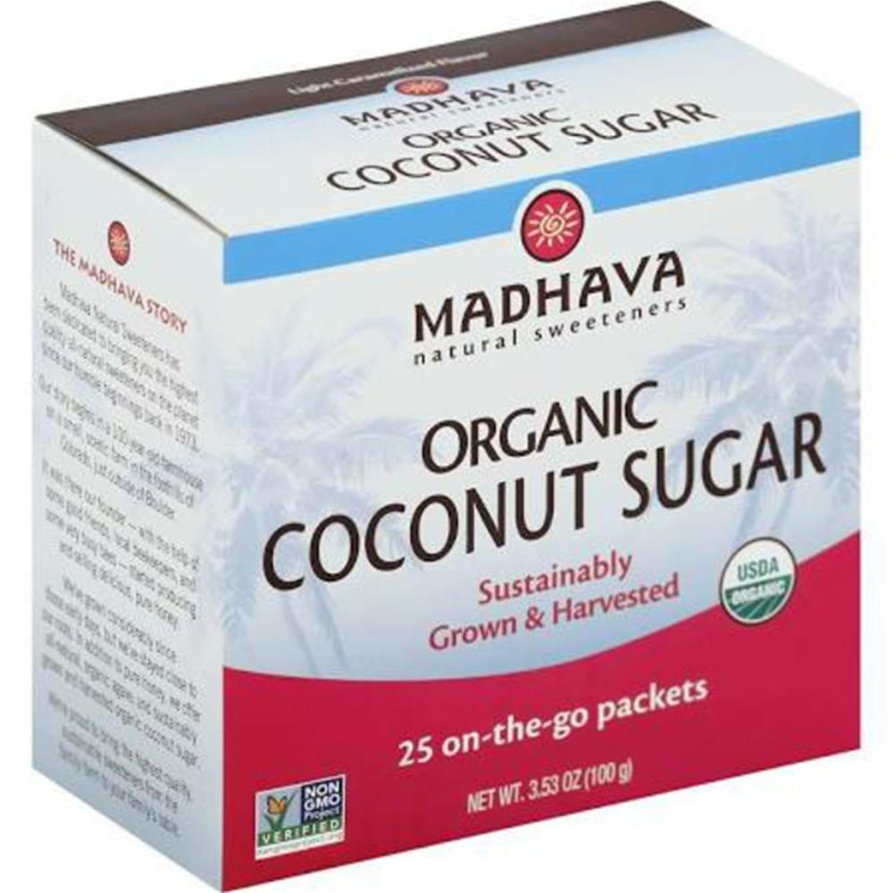 Madhava Honey - Organic Coconut Sugar ( 6 - 3.53 OZ)