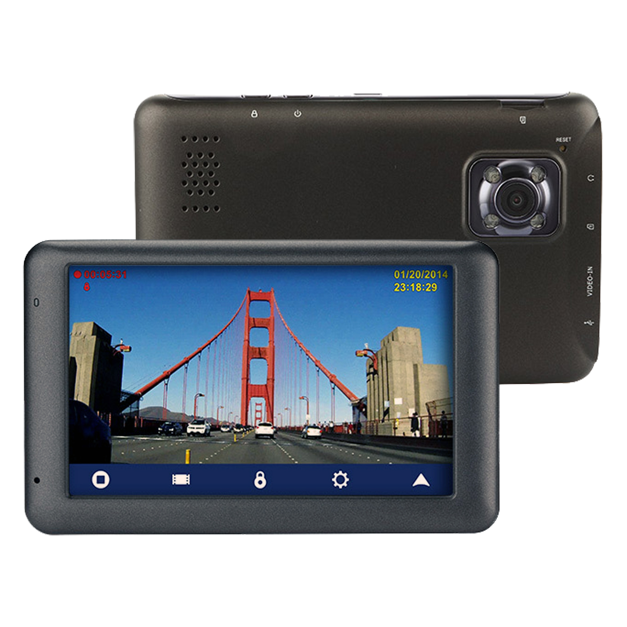 Magellan RoadMate 6230-LMX 5-inch GPS Navigator with Built-in Dashcam 8GB SD card included