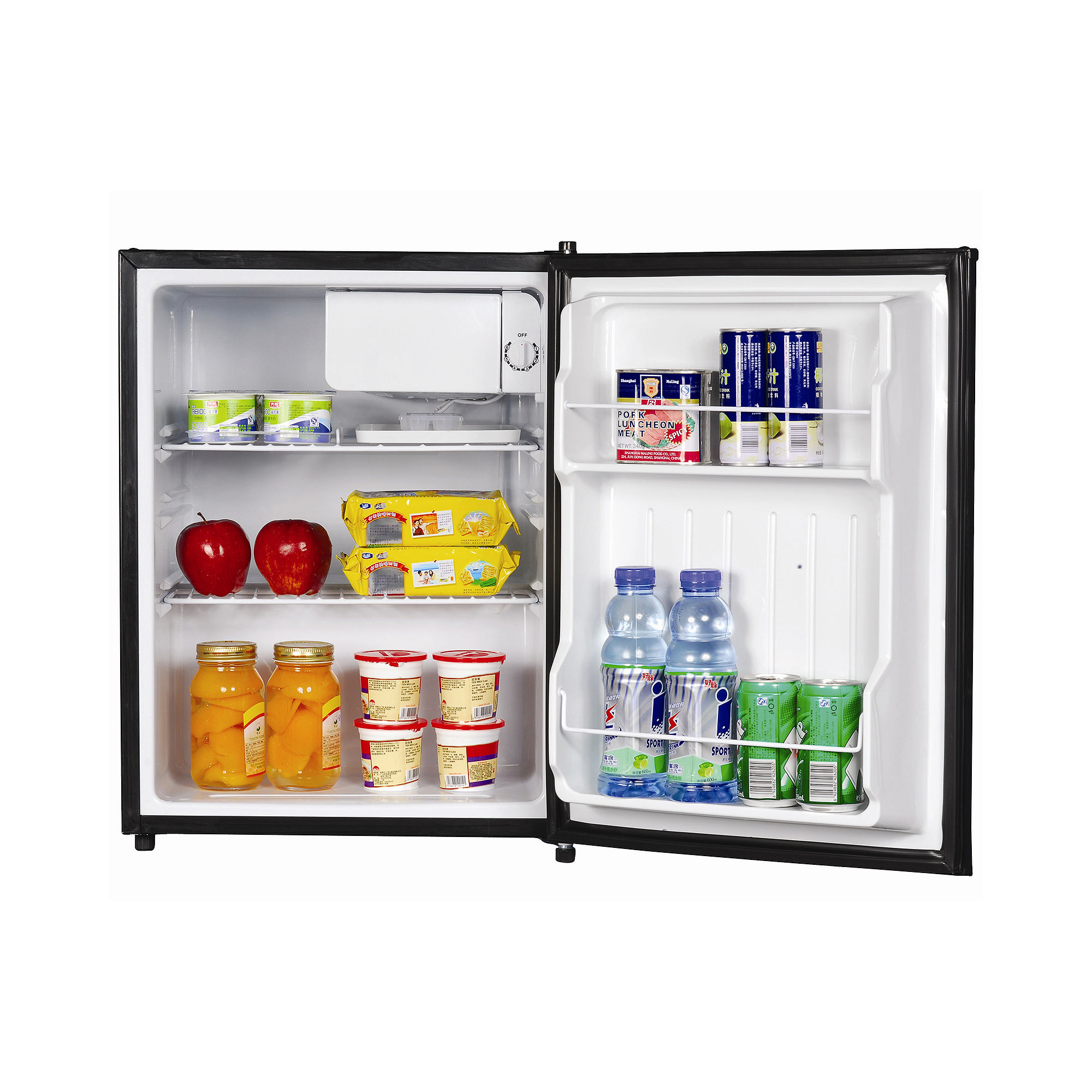 2.4 Compact Fridge with Freezer Stainless Steel