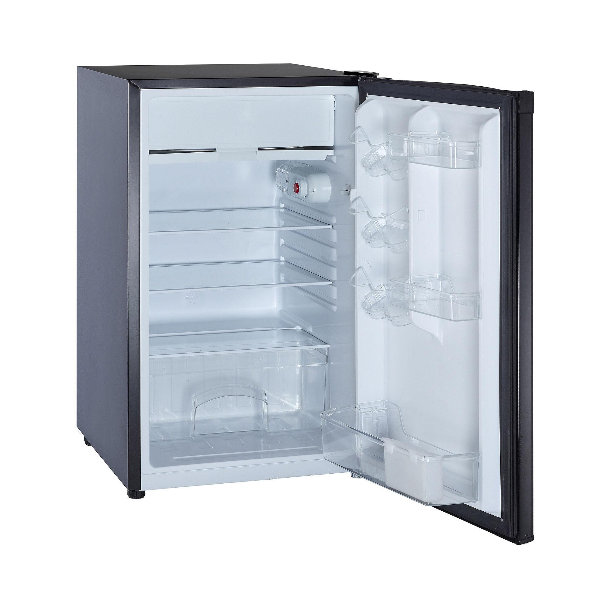 4.4 Compact Fridge with Freezer Black