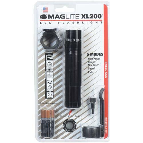 3-Cell LED Tactical Blister Pack ,Black