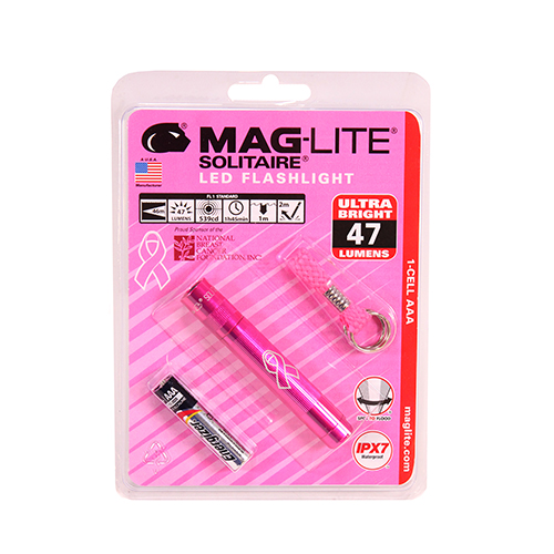 2 Cell AAA Solitaire LED,NBCF PINK,Blistr