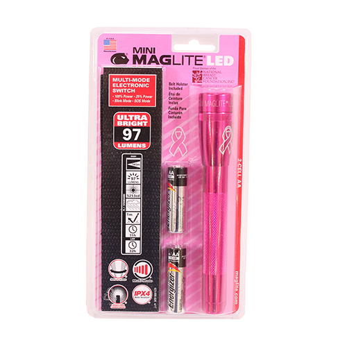 3 Cell AA MINI MAG LED,NBCF PINK, Blister