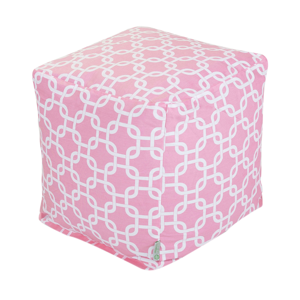 Majestic Home Goods Decorative Soft Pink Links Cube Small