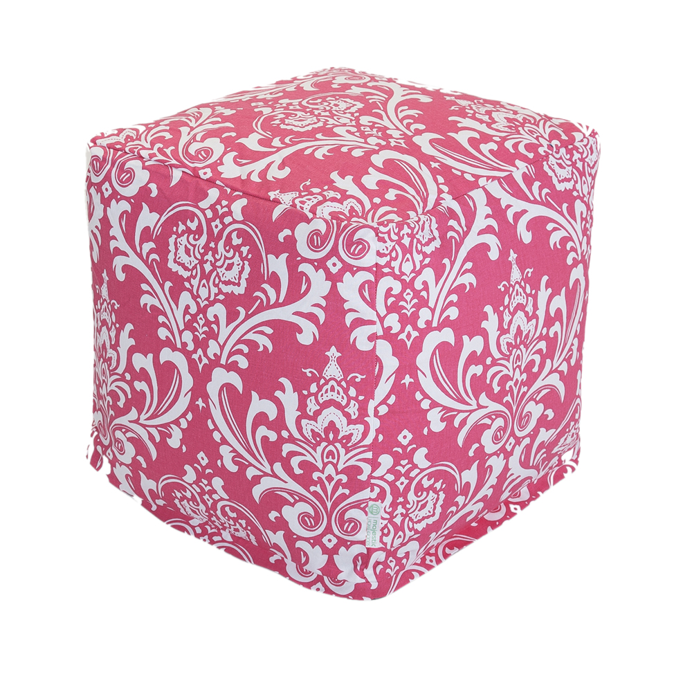 Majestic Home Goods Decorative Hot Pink French Quarter Cube Small