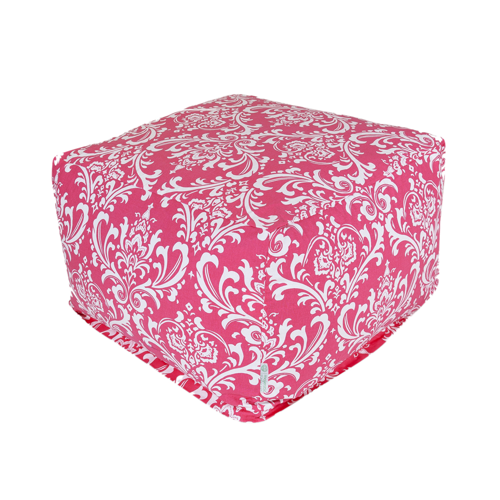Majestic Home Goods Decorative Hot Pink French Quarter Ottoman Large