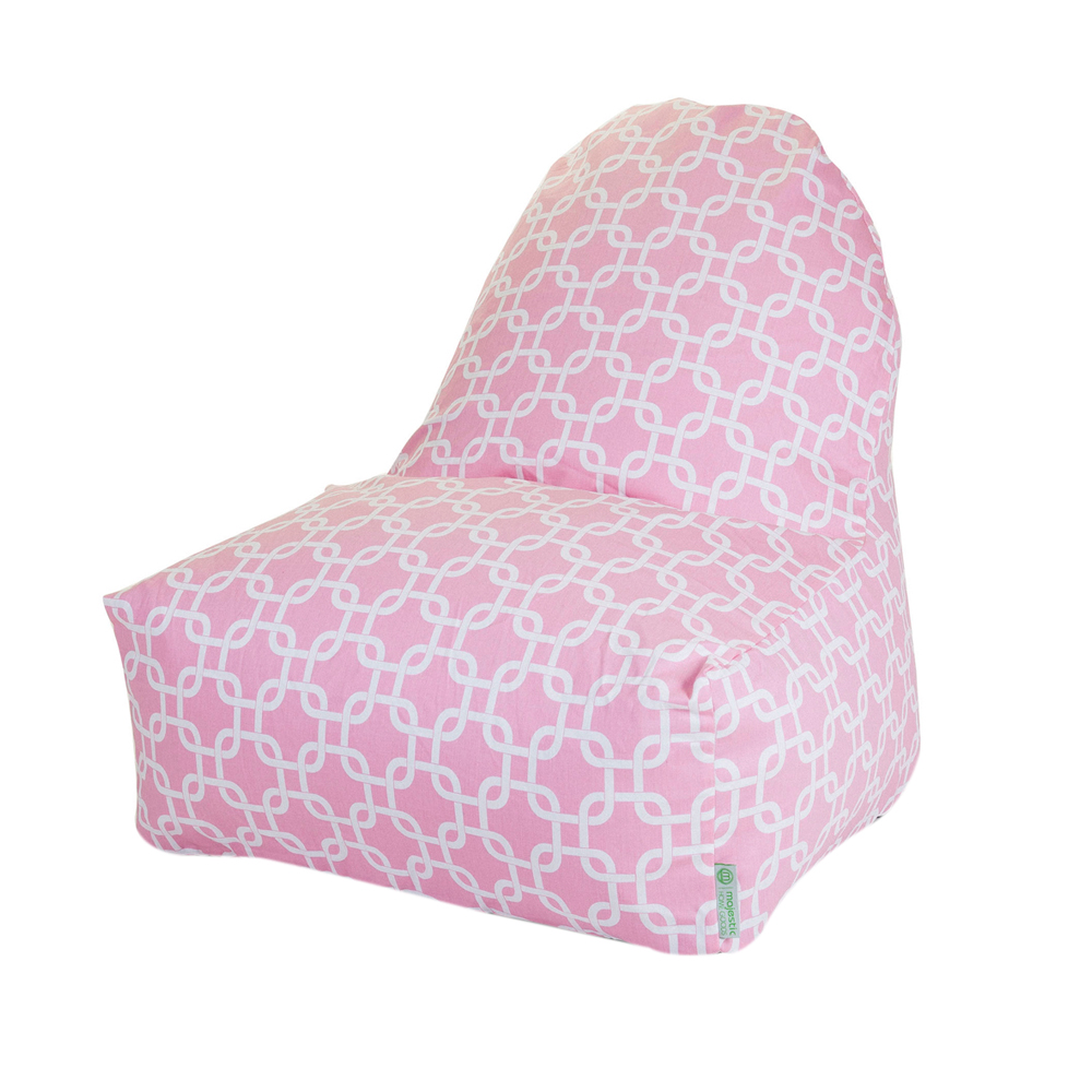 Majestic Home Goods Decorative Soft Pink Links Kick-It Chair