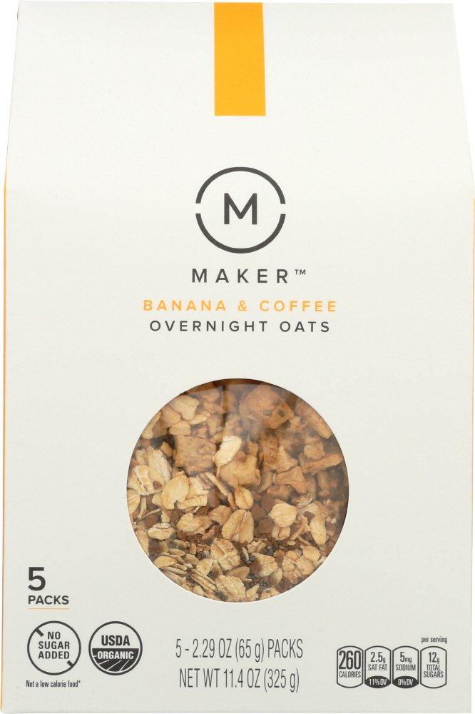 Overnight Oats - Banana And Coffee ( 6 - 11.4 OZ )