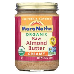 Almond Butter - Creamy And Raw ( 6 - 12 OZ )