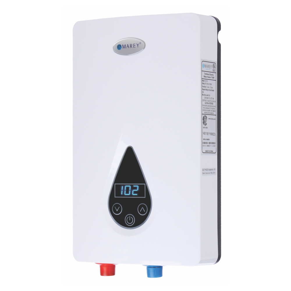 Marey 220-Volt Self-Modulating 11 kW 3.0 GPM Multiple Points of Use Tankless Electric Water Heater
