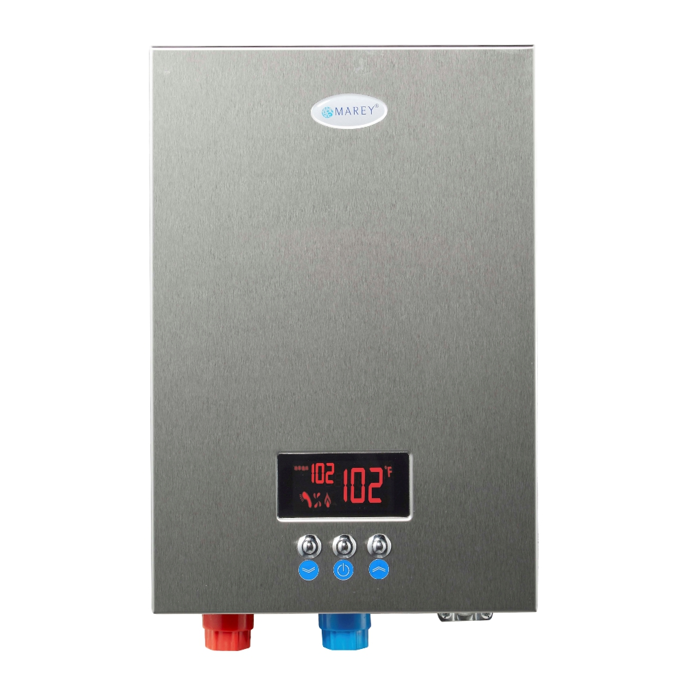 Marey ECO180 - 220Volt Self-Modulating 18 kW, 4.4 GPM Multiple Points of Use Tankless Electric Water Heater