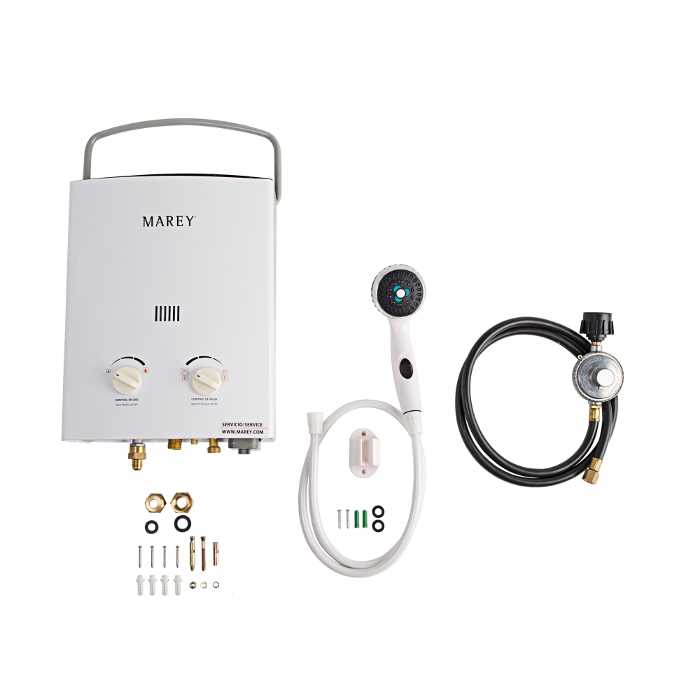Marey 2.0 GPM Liquid Propane Gas Portable Tankless Water Heater
