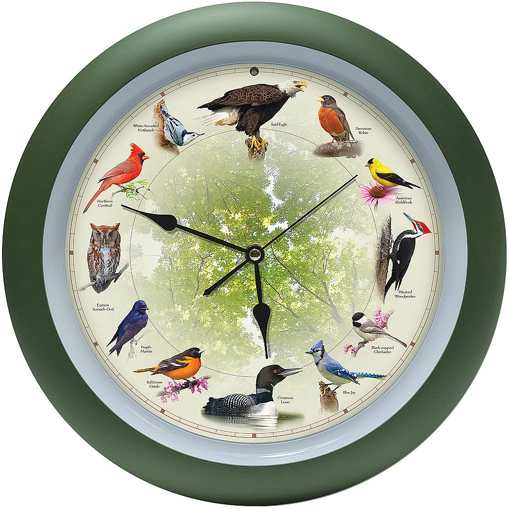 20th Anniversary 13 inch Bird Clock