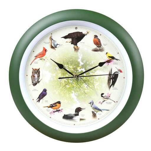20th Anniversary 8 inch Bird Clock