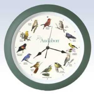 Audubon Singing Clock 13 in. Grn
