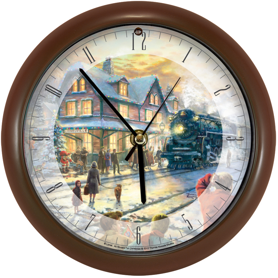 All Aboard for Christmas Clock