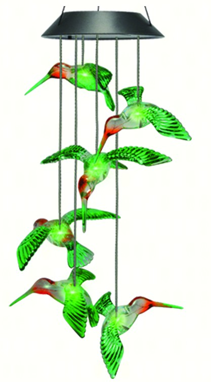 Solar Painted Hummingbird Mobile