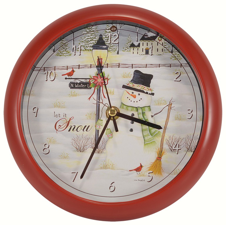 Let it Snow 8 inch Sound Clock
