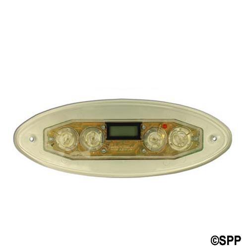 Spaside Control, Marquis (Balboa) 4-Button, LCD, No Overlay, 8 Conn Ph Plug, Oval