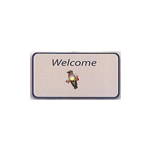 Cedar Waxwing Welcome Mat