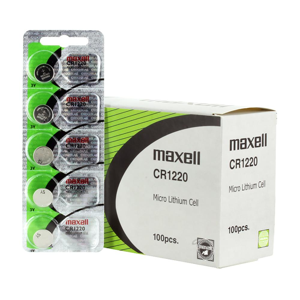 Maxell CR1220 3v 5 Pack Micro Lithium Cell Batteries, Sold in increments of 5 only