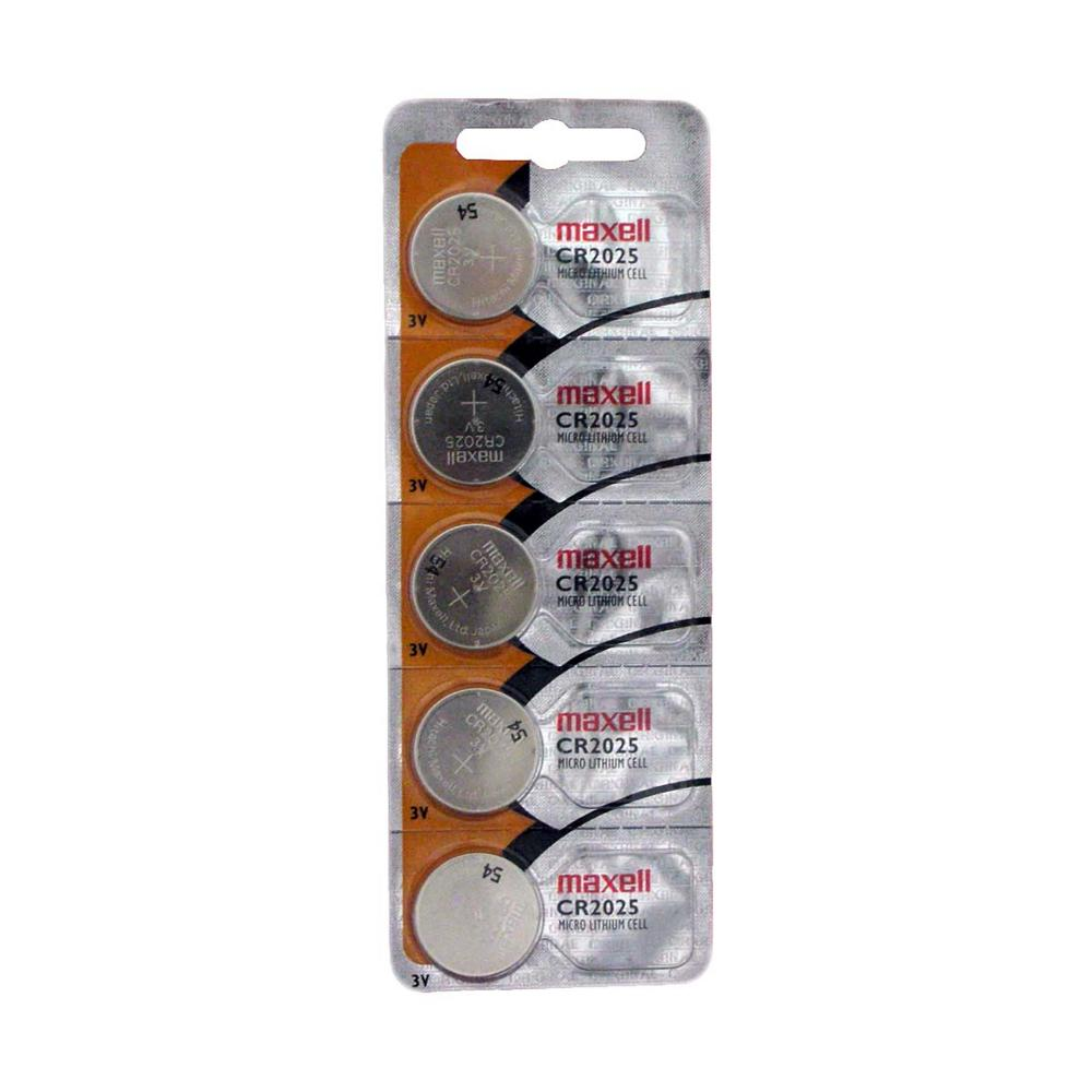 Maxell 2025 Micro Lithium Cell Battery, Sold in strips of 5 only