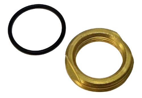 "BRASS NUT & ""O"" RING FOR M34"