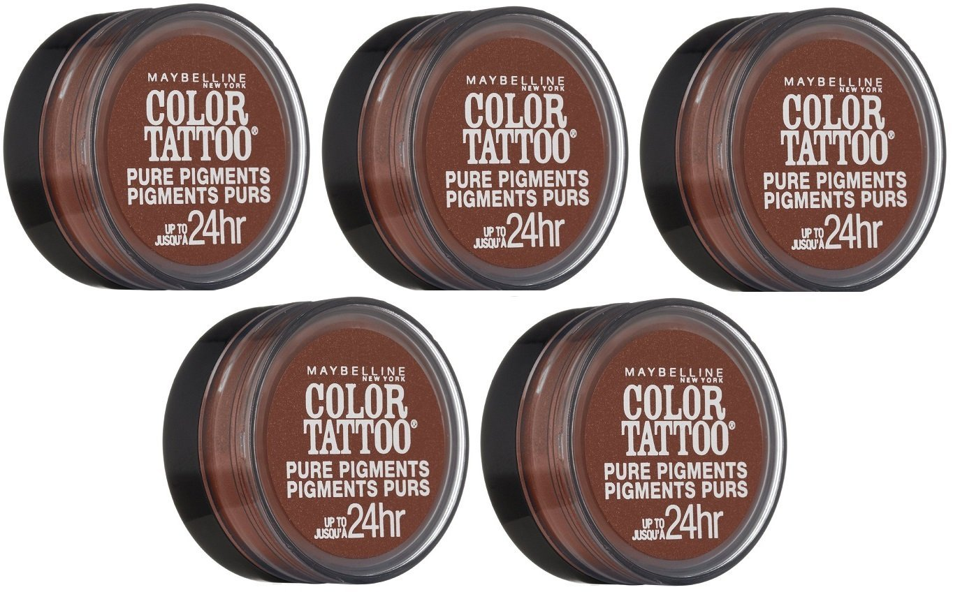 Maybelline Color Tattoo Eyeshadow, 40 Improper Copper CHOOSE YOUR PACK - Pack of 5