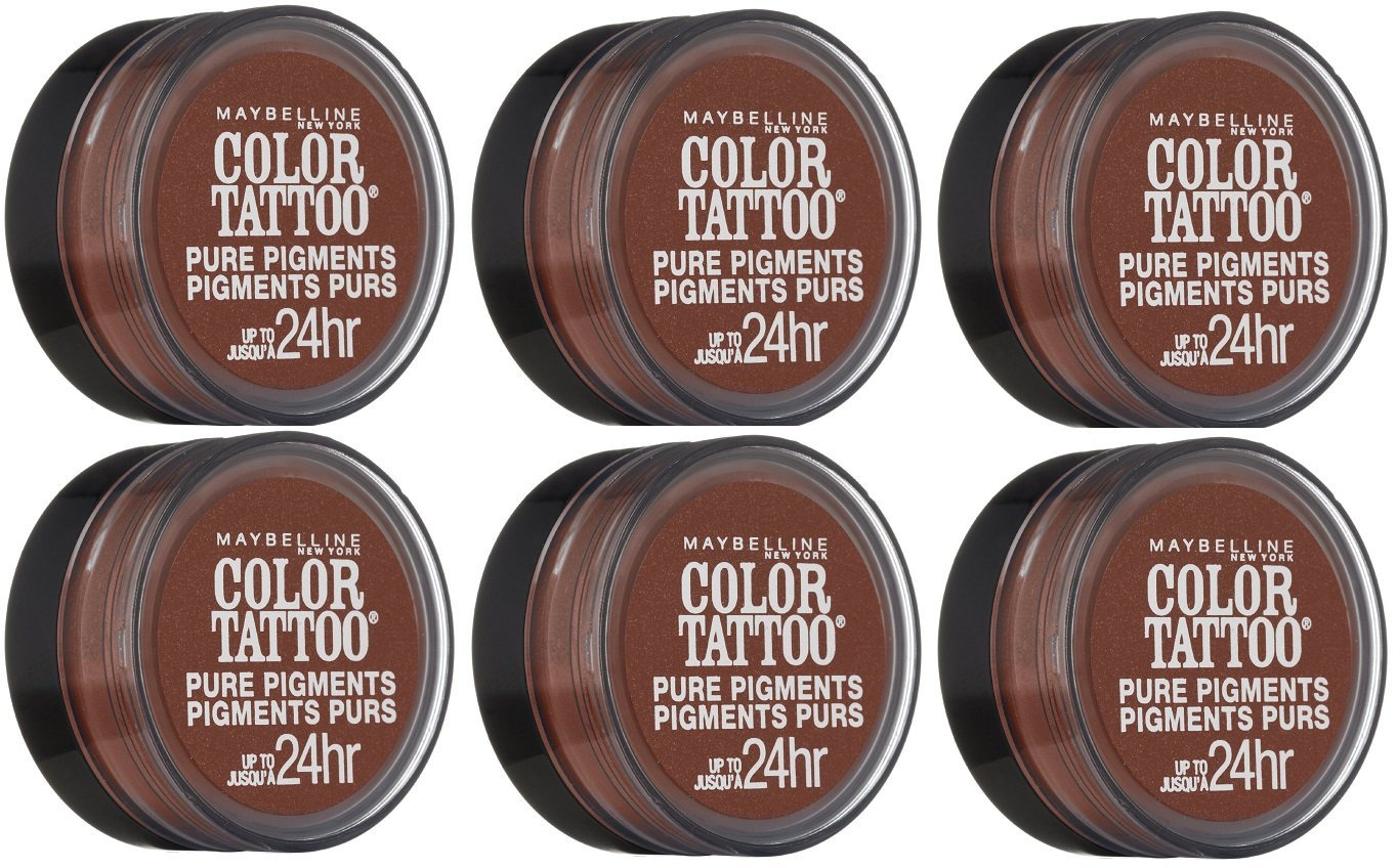 Maybelline Color Tattoo Eyeshadow, 40 Improper Copper CHOOSE YOUR PACK - Pack of 6