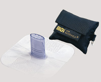 MDI+ CPR Microshield+ MicroKey+ Rescue Breather In Black Nylon Case With Attached Keyring
